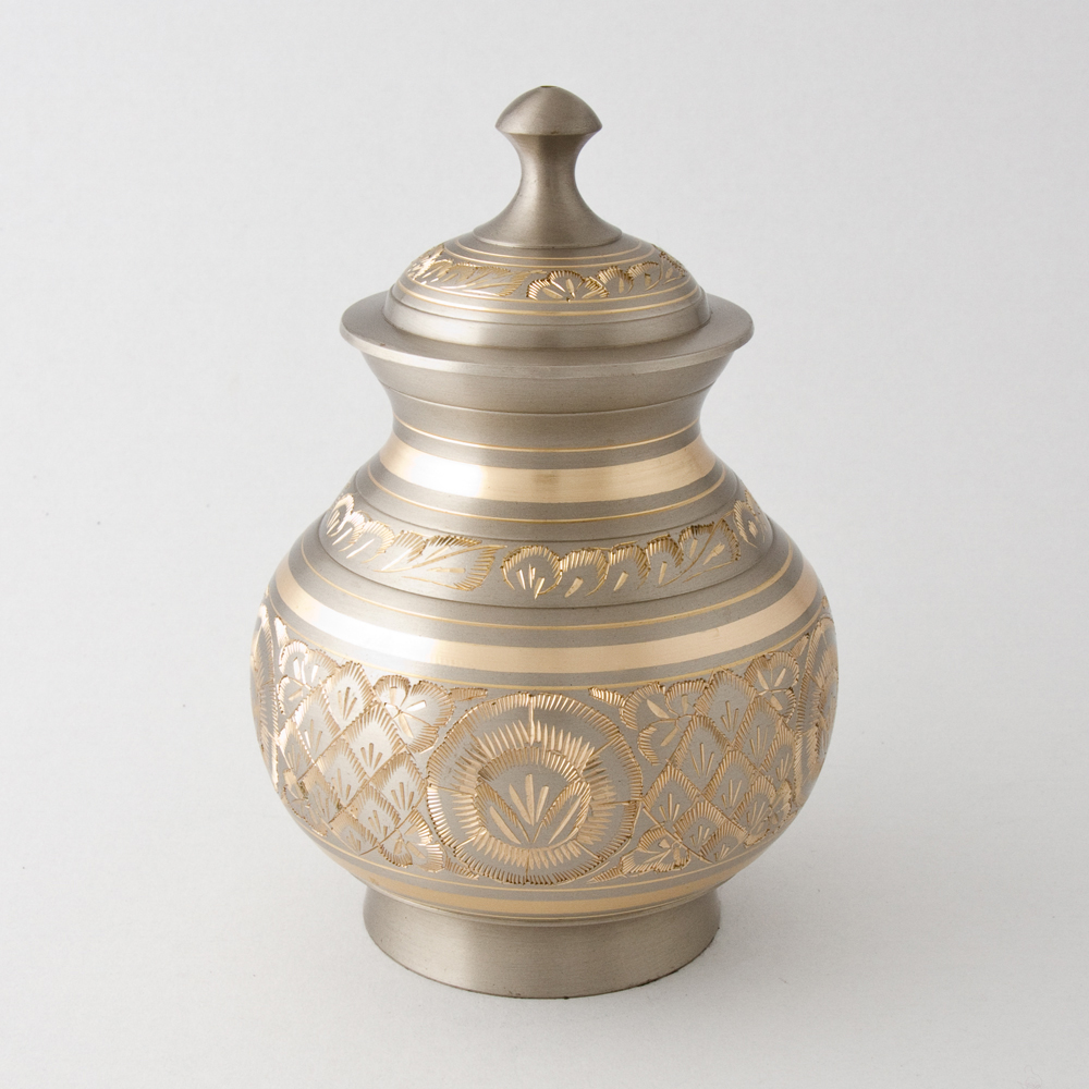 Chanda engraved dome top urn