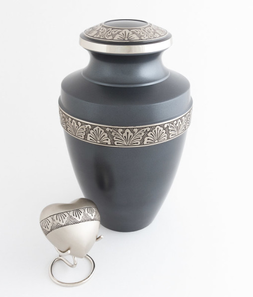 Adult Zahara steel blue Cremation Urn 2