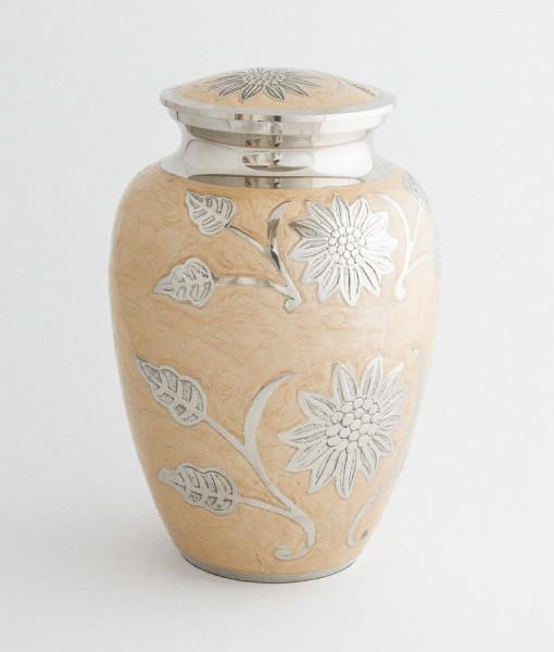 Ivory Floral Cremation Urn