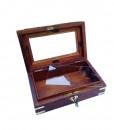 Timber brass trim photo urn 5