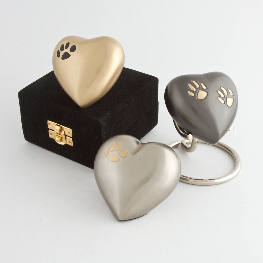 Eternal heart keepsake double paw with antique finish 4