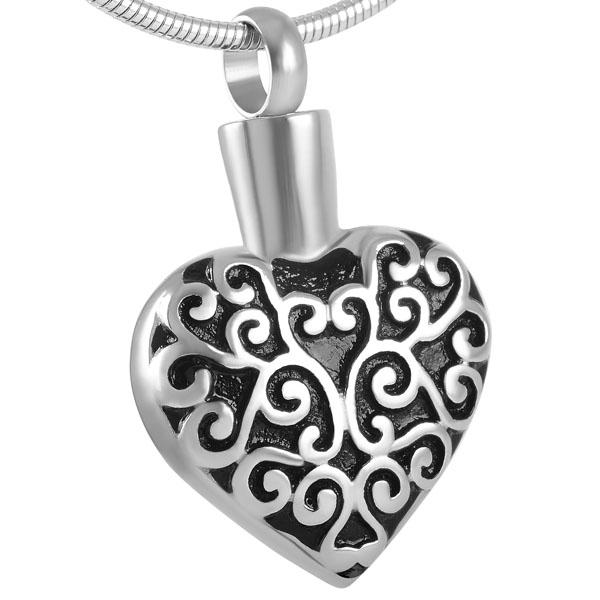 memorial cremation jewellery fancy heart