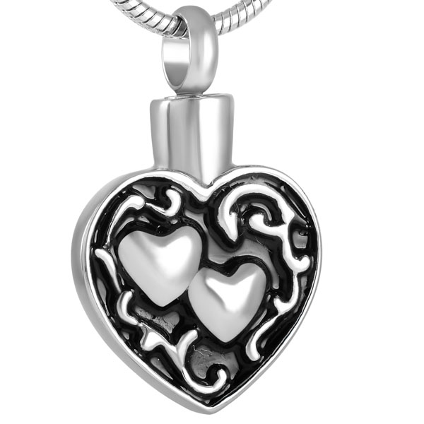 memorial cremation jewellery silver heart