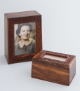 Engraved Photo Frame Timber Urn