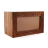 Engraved Photo Frame Timber Urn 3