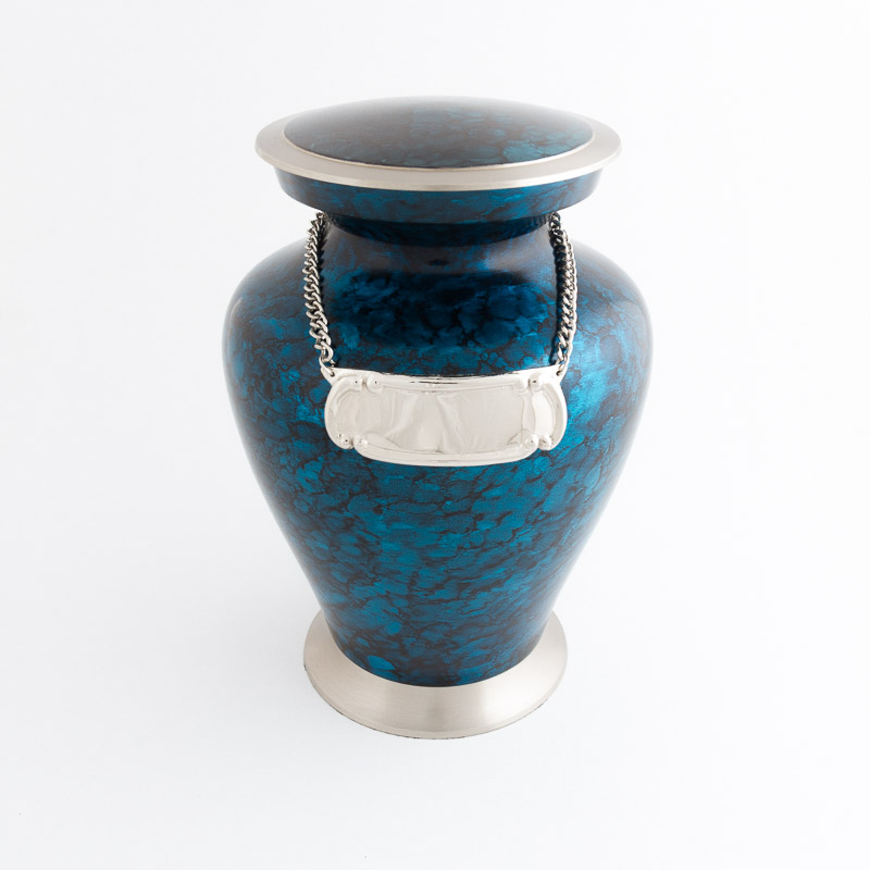 Adult Mystic Cremation Urn with medallion