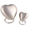 Angels Heart Infant Urn – Pewter keepsake