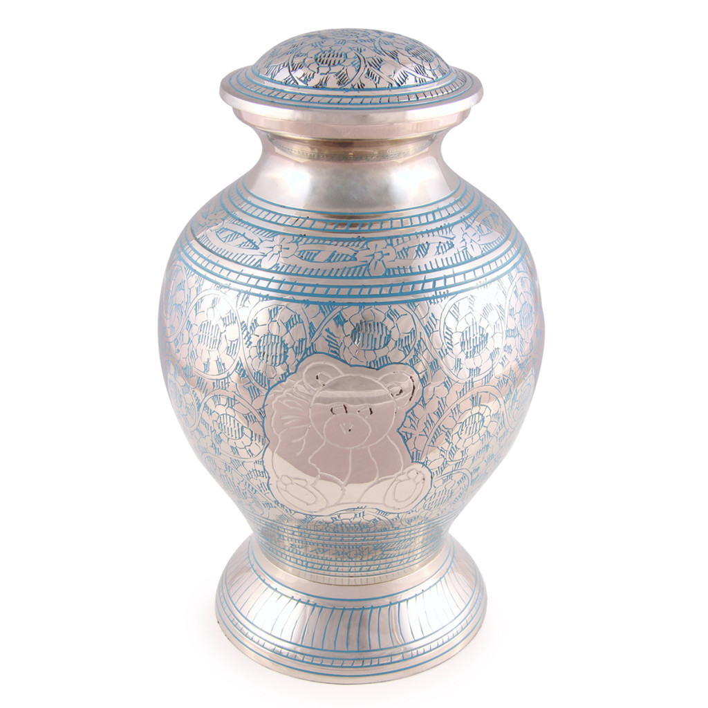 Baby/Child blue teddy cremation Urn