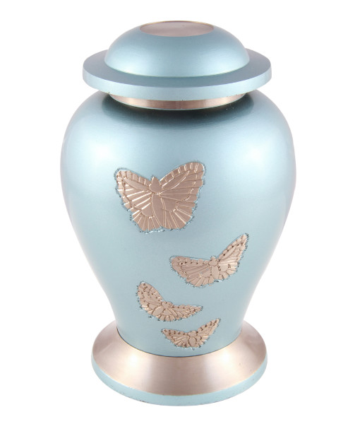 Baby/Child Butterflies blue cremation urn