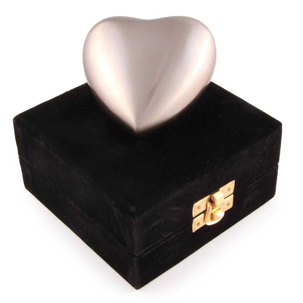 Contemporary Pewter Cremation Urn keepsake