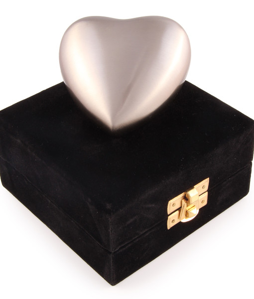 Contemporary Pewter Cremation Urn keepsake