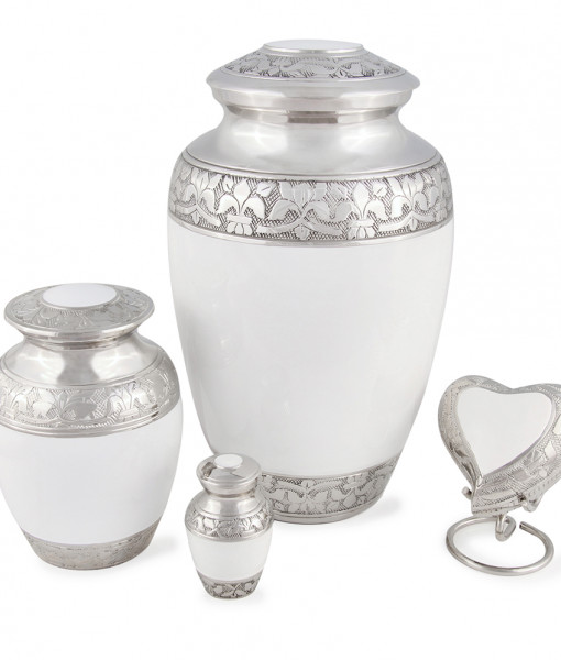 Adult Classic White Cremation Urn