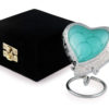 Baby Jade heart keepsake urn and box