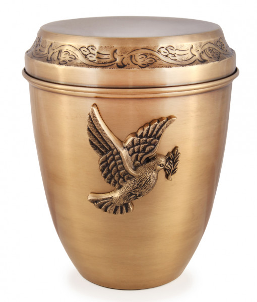 Cremation Scattering Urn Antique Bronze