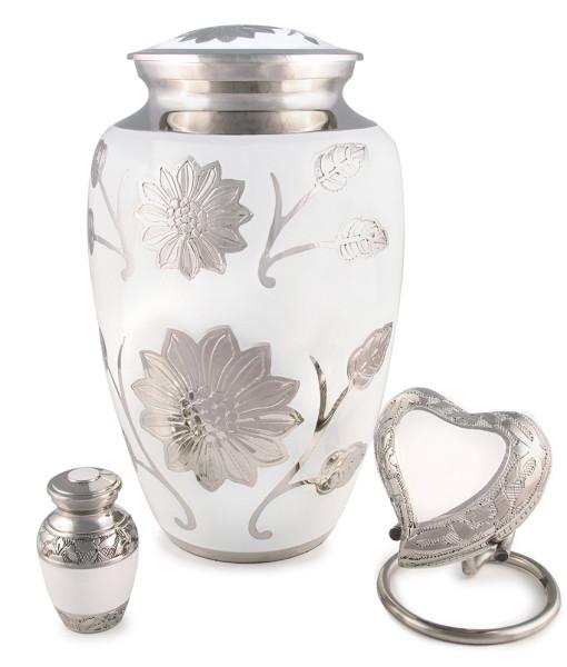 cremation urn floral