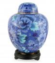 Floral Blue Floral Cloisonné Urn