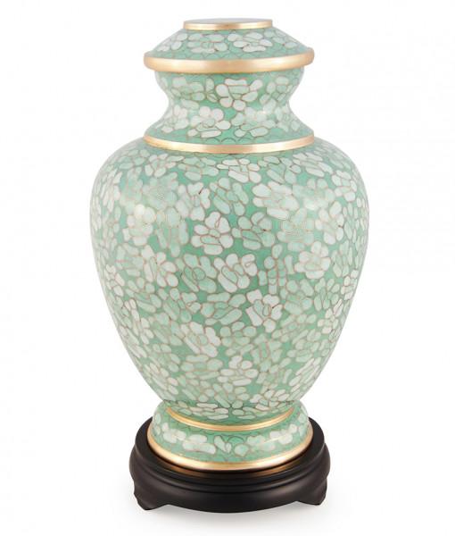 Jade Floral Cloisonne Cremation