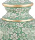 Jade Floral Cloisonne Cremation detail