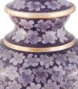 Lilac Floral Cloisonne Cremation Urn detail
