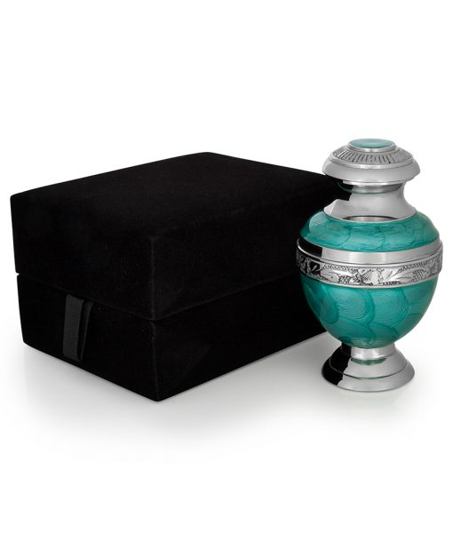 keepsake urn teal
