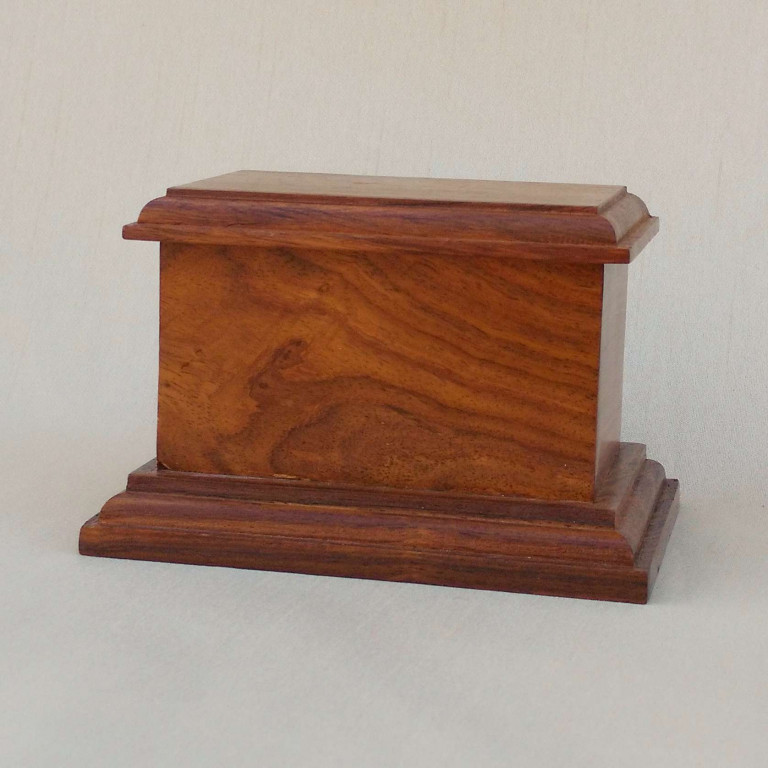 Timber Cremation Urn with Plaque