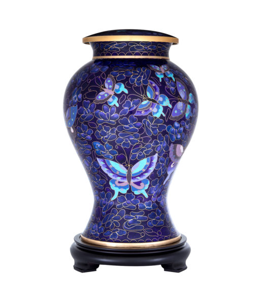 CLOISONNE ADULT ASHES URN